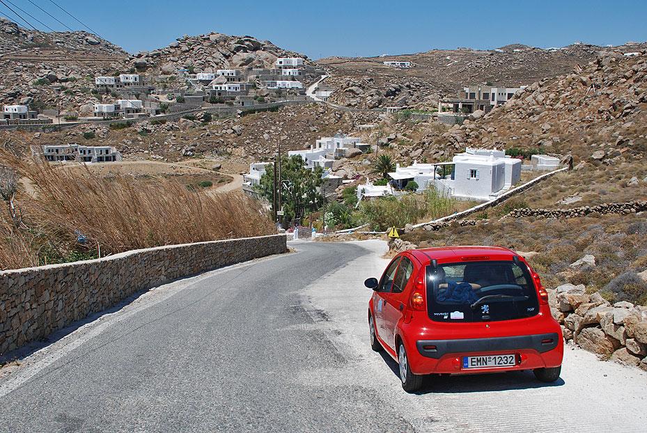 Alquiler de coches en Mykonos
